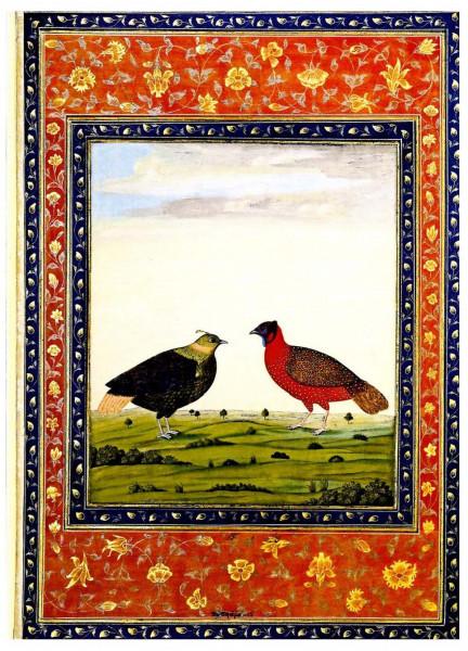 Vogelpaar, Albumblatt Mogulschule