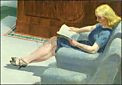 Edward Hopper, Hotel Lobby (Detail)