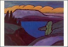 Gabriele Münter, Der blaue See, 1954