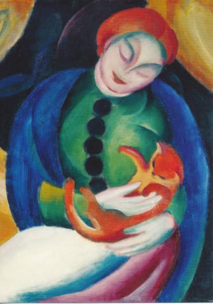 Franz Marc, Mädchen mit Katze II