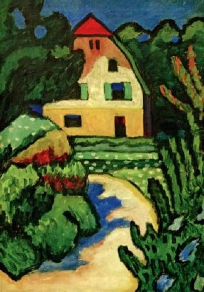 Gabriele Münter, Das rote Haus, 1909