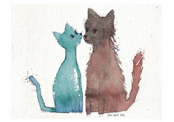 Jens Wolf, Katzenpaar