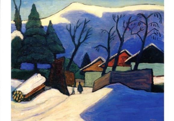 Gabriele Münter, Drei Häuser im Schnee