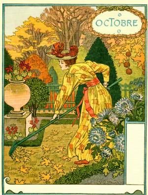Eugène Grasset, Oktober