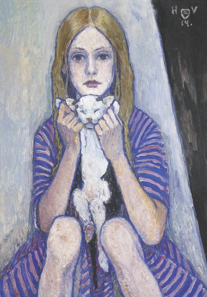 Heinrich Vogeler, Kind mit Katze