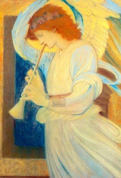 Edward Burne-Jones, Flageolett spielender Engel