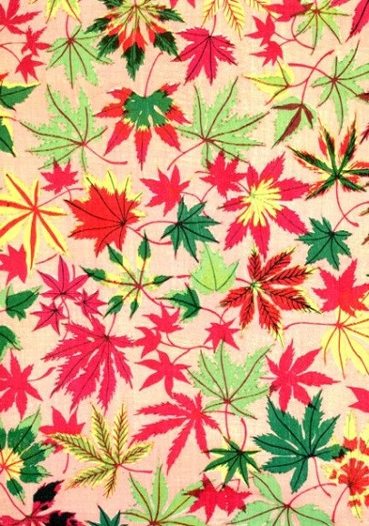 The Olga Hirsch Collection of decorated Papers, Blattmotiv in Rot und Grün