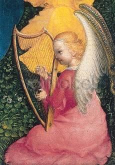 Stefan Lochner, Muttergottes in der Rosenlaube Detail