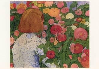 Cuno Amiet, Mädchen mit Blumen