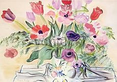 Raoul Dufy, Anemonen und Tulpen