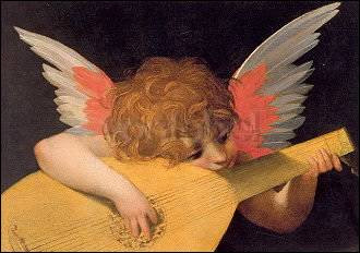 Rosso Fiorentino, Laute spielender Engel (1522)