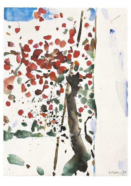 Oskar Koller, Blumen am Haus