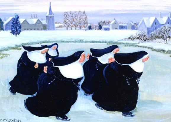Margaret Loxton, Winter am Kloster, fd-9363