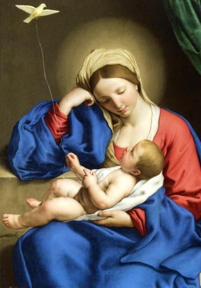 Sassoferrato, Madonna mit dem Kinde