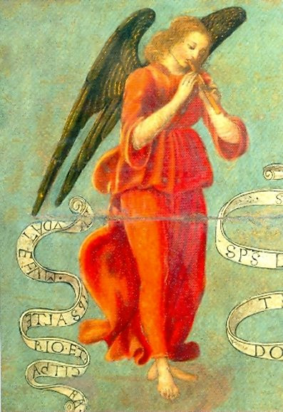 Francesco Botticini, Flöte spielender Engel