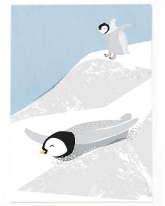 Rutschender Pinguin