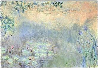 Claude Monet, Seerosenteich mit Iris
