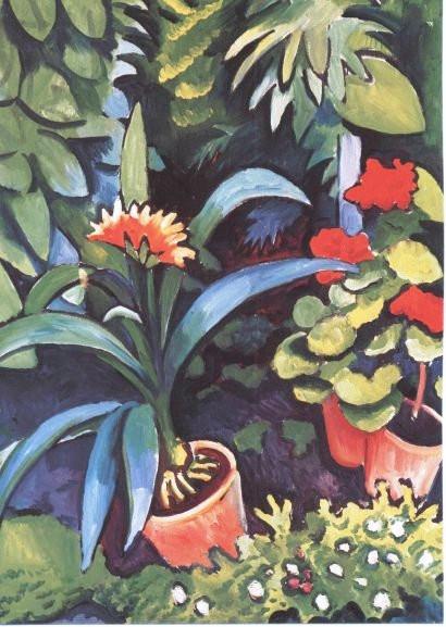 August Macke, Blumen im Garten