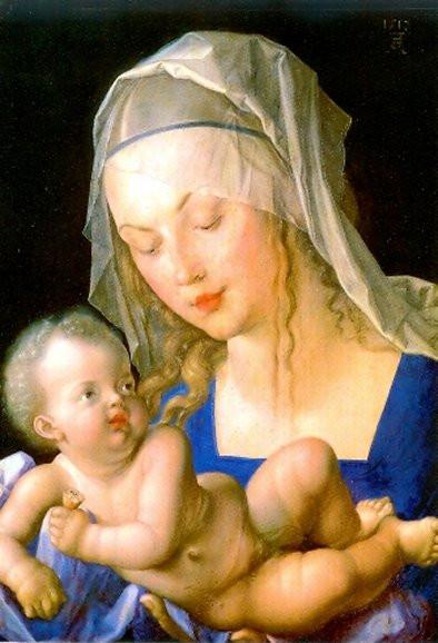 Albrecht Dürer, Madonna mit der Birnenschnitte