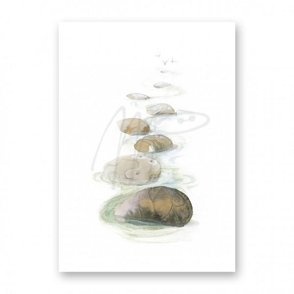 Steinfelsen im Meer