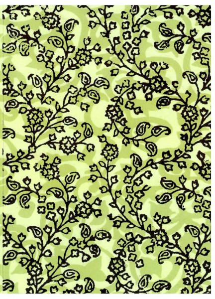 Floraler Handdruck mit indischem Model