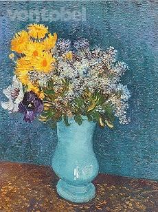 Vincent van Gogh, Blumenstrauss in blauer Vase