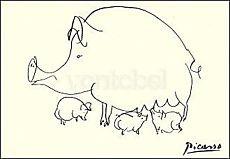 Pablo Picasso, Das Schwein (1952)