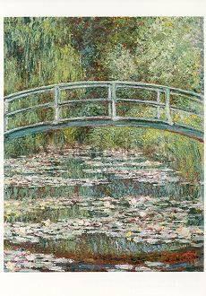 Claude Monet, Brücke über einen Seerosenteich