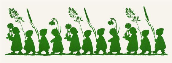 Wurzelkinder grüne Blumenparade