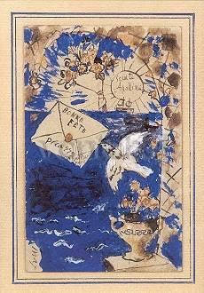 Pablo Picasso, Grusskarte an Apollinaire (1905)
