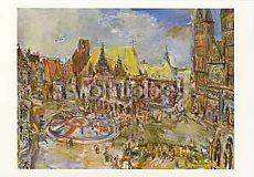 Oskar Kokoschka, Der Marktplatz zu Bremen