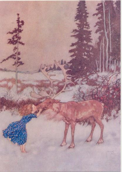 Edmund Dulac, Die Schneekönigin I Der Kuss