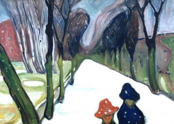 Munch, Edvard Allee im Schneegestöber