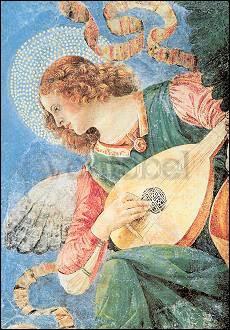 Artikel auf Anfrage, Melozzo da Forli, Laute spielender Engel