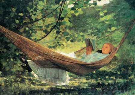 Winslow Homer, Mädchen in der Hängematte