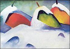 Franz Marc, Hocken im Schnee