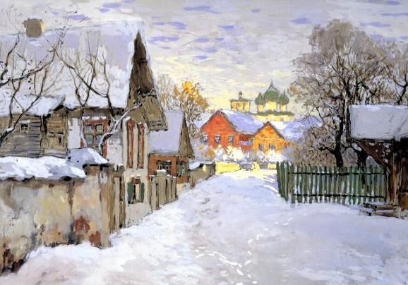 Gorbatschow, Konstantin, Winterabend in Pskow fd-1083