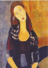 Amedeo Modigliani, Jeanne Hebuterne, sitzend, 1918