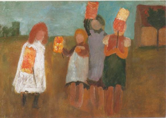 Paula Modersohn Becker, Kinder mit Papierlaternen