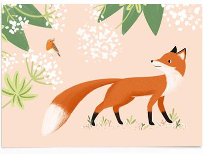 Rotkehlchen und Fuchs