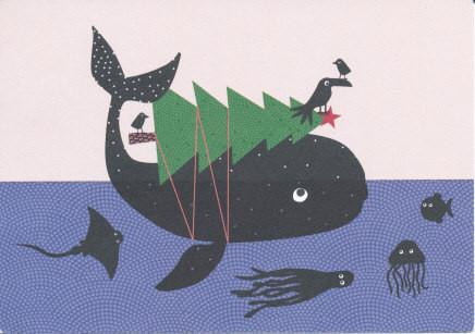Wal mit Tannenbaum