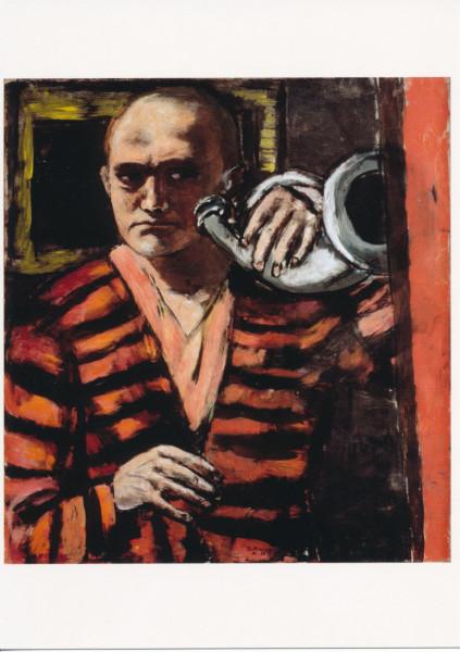Max Beckmann, Selbstbildnis mit Horn