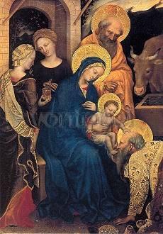 Gentile da Fabriano, Anbetung durch die Weisen aus dem Morgenland (Ausschnitt) (1423)