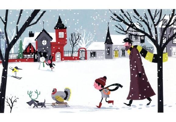 Steve Scott, Spaziergang durch das verschneite Dorf