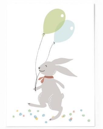 Luftballon Hase