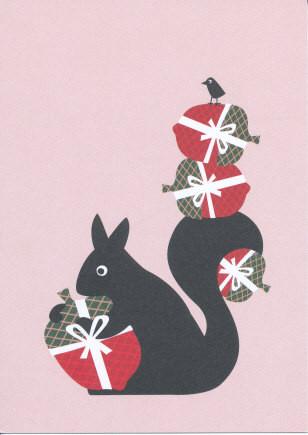 Eichhörnchen mit Geschenken