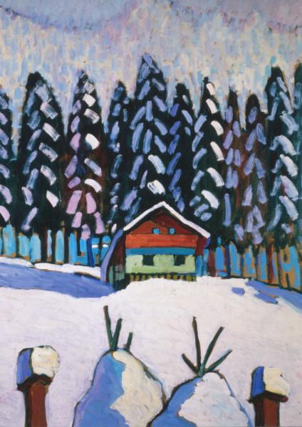 Gabriele Münter, Tannen im Schnee