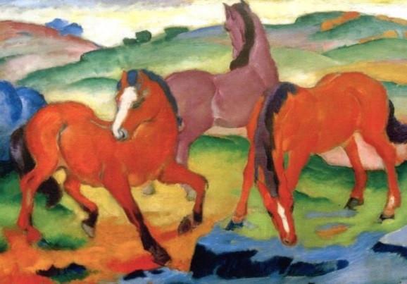 Franz Marc, Rote Pferde