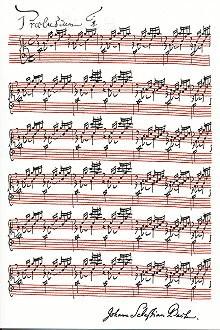 """Johann Sebastian Bach, Präludium in C-Dur aus: """"Das Wohltemperierte Klavier"""""""