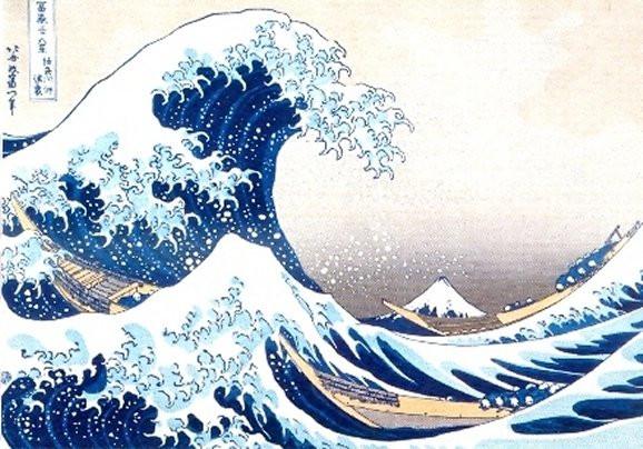 Katsushika Hokusai, Die große Welle von Kanagawa, 1831